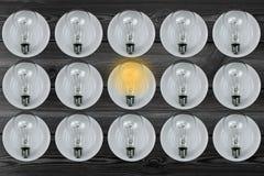 Электрическая лампочка ярка Стоковое фото RF