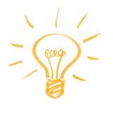 Электрическая лампочка Стоковое Изображение