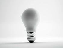 Электрическая лампочка, 3D представляет иллюстрацию Стоковое Изображение
