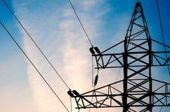 Электрическая высоковольтная башня Стоковое Изображение RF