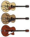 электрическая гитара старая Стоковое фото RF