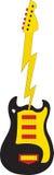 электрическая гитара иллюстрация штока