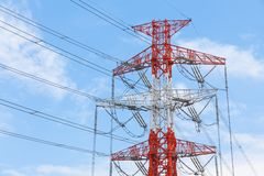 электрическая линия передача Стоковые Изображения RF
