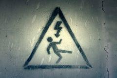 Электрическая опасность сигнала стоковые фотографии rf