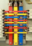 Электрическая доска пульта управления с главным образом переключателем Стоковое фото RF
