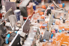 Электрическая доска с диодами в пыли Стоковые Изображения