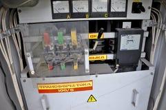 Электрическая панель с приборами Стоковые Фото