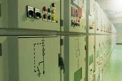 электрическая подстанция Стоковые Фото