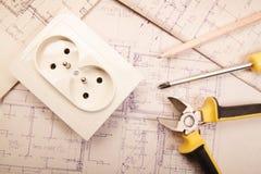 Электрическая работа Стоковое Изображение RF