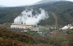 Электрическая станция геотермальной энергии в Кении Стоковое Изображение
