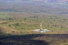 Электрическая станция геотермальной энергии в кратере Menengai, Nakuru, Кении Стоковое Изображение