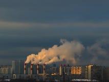 Электрическая станция тепловой мощности Стоковое Изображение