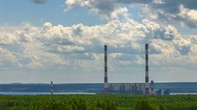 Электрическая станция тепловой мощности Permskaya Timelapse видеоматериал