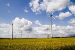 Электрическая станция энергии ветра Стоковые Изображения RF