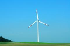 Электрическая станция энергии ветра Стоковое Изображение