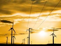 Электрическая станция энергии ветра стоковое фото