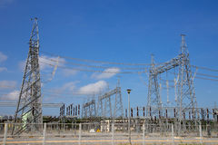 Электрическая станция электропитания газовой турбины Стоковые Фото