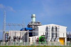 Электрическая станция электропитания газовой турбины Стоковая Фотография RF