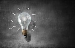 Электрическая стеклянная лампа Мультимедиа стоковые изображения