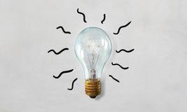 Электрическая стеклянная лампа Мультимедиа стоковое фото