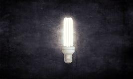 Электрическая стеклянная лампа Мультимедиа стоковое изображение