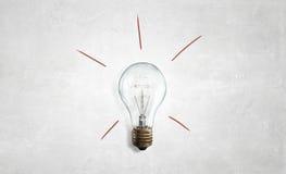 Электрическая стеклянная лампа стоковые изображения