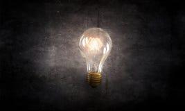 Электрическая стеклянная лампа стоковая фотография