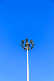 Электрическая стойка хозяина в дне солнечности Стоковая Фотография