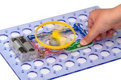 Электрическая цепь с электрическим двигателем Стоковые Изображения RF
