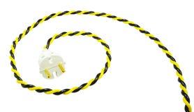 Электрическая штепсельная вилка и провод Стоковое Изображение