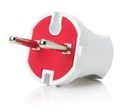 Электрическая штепсельная вилка на белой предпосылке Стоковое Фото