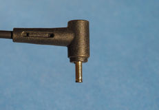 электрическая штепсельная вилка трансформатора с космосом экземпляра Стоковые Изображения