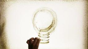 Электрическая электрическая лампочка сток-видео