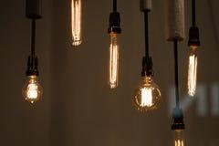 Электрические лампочки битника Стоковые Изображения
