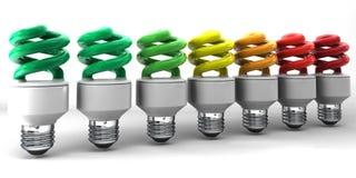 Электрические лампочки низкой энергии Стоковое Изображение