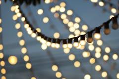 Электрические лампочки Bokeh Стоковая Фотография RF