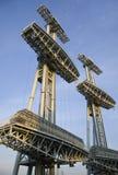 Электрические башни в голубом небе Стоковая Фотография