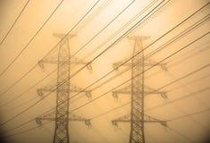 Электрические башни стоковые фотографии rf