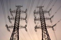 Электрические башни стоковые изображения rf