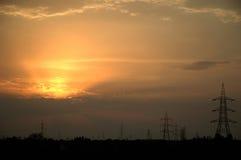 Электрические башни Стоковое Изображение