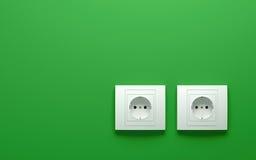 Электрические выходы Стоковое фото RF