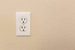 Электрические гнезда в стене Стоковое Изображение
