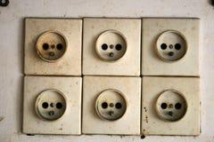 Электрические гнезда - контакт стоковое изображение