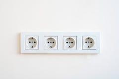 Электрические гнезда на стене Стоковые Фотографии RF