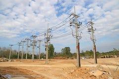 электрические линии передача силы Стоковая Фотография