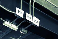 Электрические коробки электрофонаря Стоковые Фото