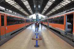 электрические поезда Стоковая Фотография