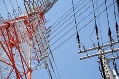 электрические полюсы Стоковое Фото