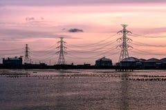 электрические полюсы Стоковая Фотография RF