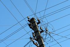 Электрические провода на штендере Стоковое фото RF